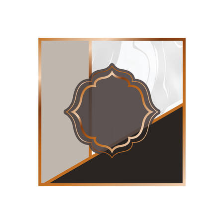 card with marble texture icon vector illustration design Stock Illustratie