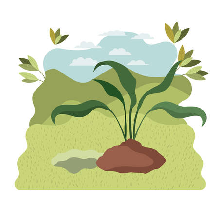 tree to plant in landscape isolated icon vector illustration design Standard-Bild - 129228801