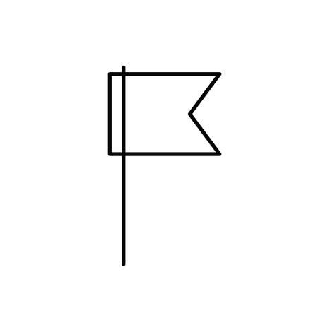 silhouette of flag waving on white background vector illustration design Illusztráció