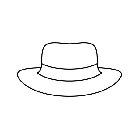 hat with ribbon on white background vector illustration design