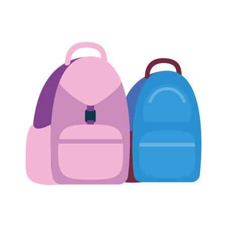 handbag school on white background vector illustration design Illusztráció