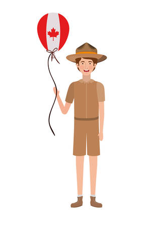 Ranger and canada design, Culture national country travel and tourism theme Vector illustration