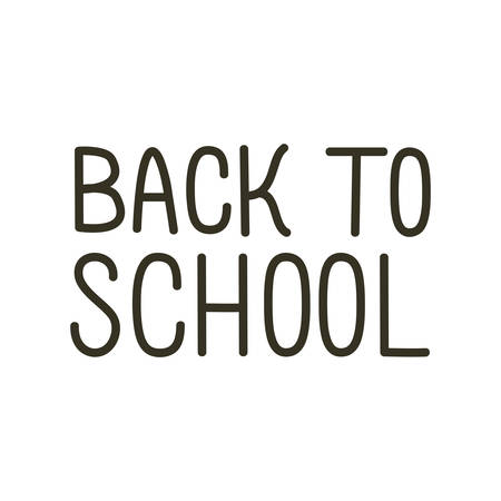 back to school label on white background vector illustration design