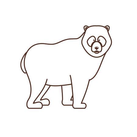 Bear animal design, forest canada life nature and fauna theme Vector illustration Foto de archivo - 129230879