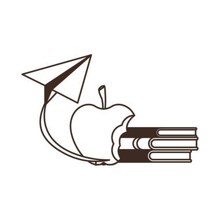 earth globe with handbag of school vector illustration design Ilustracja