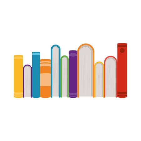 Bücherdesign, Bildungsliteratur lesen Bibliotheksschuluniversität und Lernthema Vektorillustration Vektorgrafik