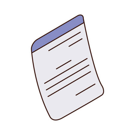 sheets of paper in white background vector illustration design