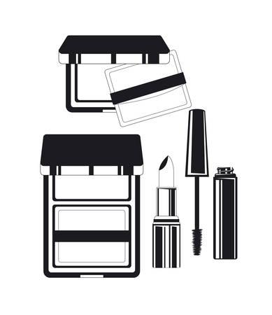 set of make up products vector illustration design