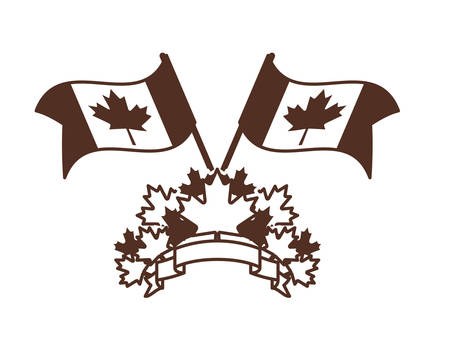 Maple leaf and canada icon design, Culture national country travel and tourism theme Vector illustration