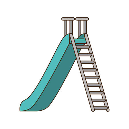 park with slide isolated icon vector illustration design
