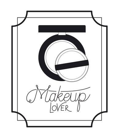 blush make up in frame elegant vector illustration design Zdjęcie Seryjne - 129254007