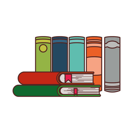 Books design, Education literature read library school university and learning theme Vector illustration