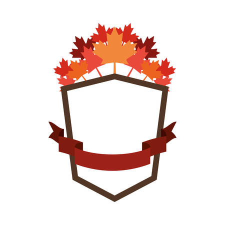Maple leaf label and canada design, Culture national country travel and tourism theme Vector illustration Ilustração