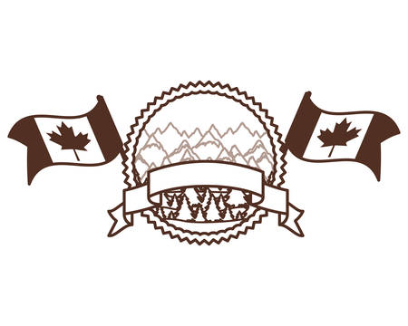 Forest of canada design, Culture national country travel and tourism theme Vector illustration