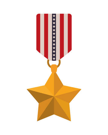medal with the united states flag icon vector illustration design Ilustracja