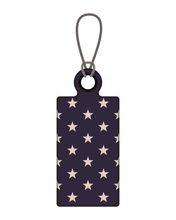 tag with the united states flag icon vector illustration design Ilustracja