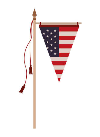united states flag isolated icon vector illustration design Ilustracja