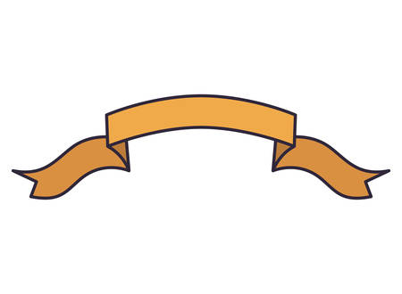 beautiful ribbon isolated icon vector illustration design 向量圖像