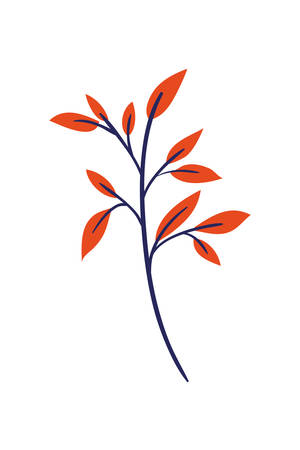 branch with leaf isolated icon vector illustration design Zdjęcie Seryjne - 129254669