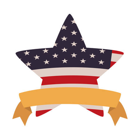 united states flag with star isolated icon vector illustration design Zdjęcie Seryjne - 129254680