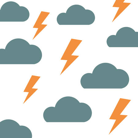 pattern cloud and thunder icon vector illustration design
