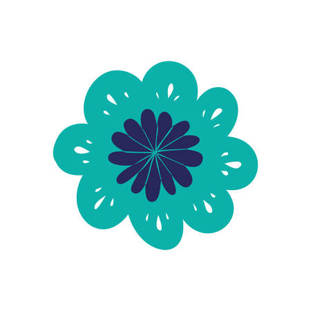 beautiful flowers isolated icon vector illustration design