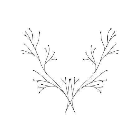 branch with leaves isolated icon vector illustration design