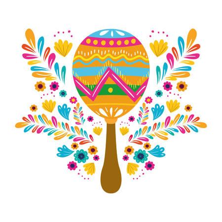 cute maraca isolated icon isolated icon vector illustration design Foto de archivo - 129293872