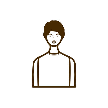 silhouette of man on white background vector illustration design