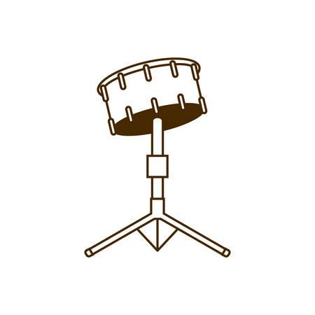 musical instrument timpani on white background vector illustration design