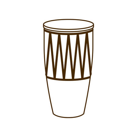musical instrument conga on white background vector illustration design Foto de archivo - 129328759
