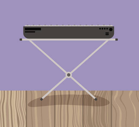 piano musical instrument isolated icon vector illustration design
