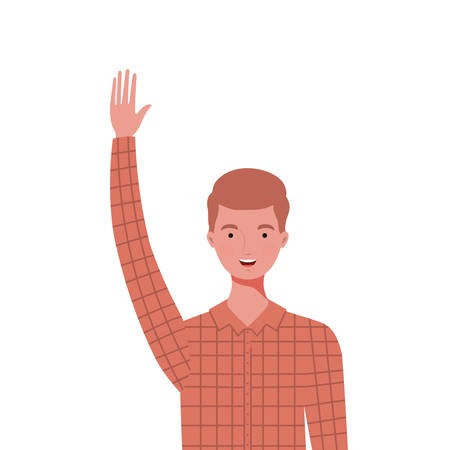 young man on white background vector illustration design Illustration