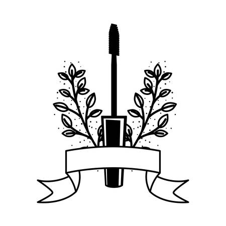 brush for eyelash, mascara on white background vector illustration design