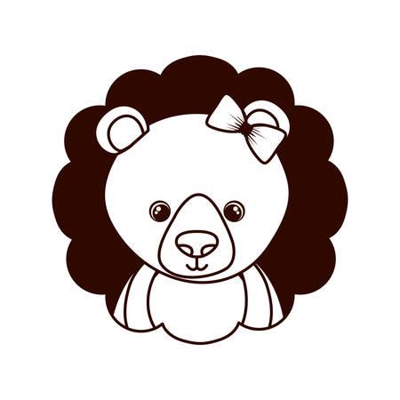 cute and adorable bear with frame vector illustration design Ilustração