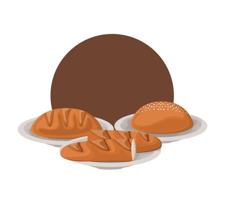 fresh and delicious bakery bread vector illustration design Фото со стока - 129318052