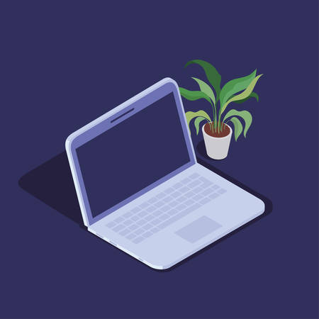 laptop computer technology device icon vector illustration design