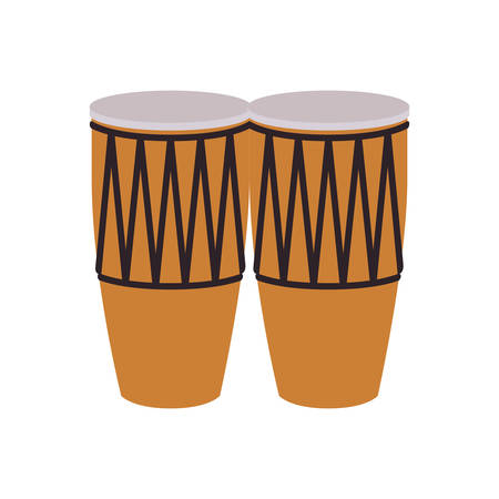 musical instrument congas on white background vector illustration design Çizim