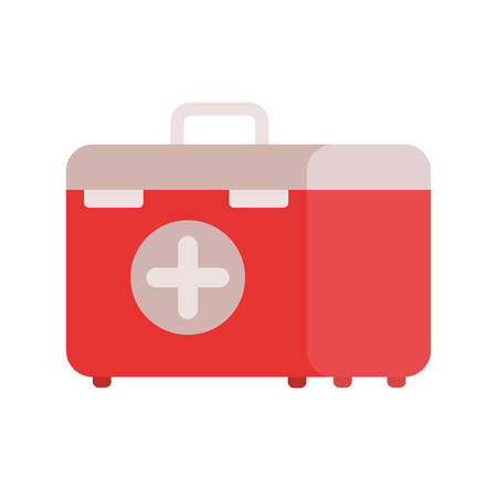 first aid kit on white background vector illustration design Ilustrace