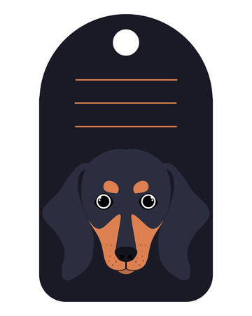 dog card with space to write vector illustration design