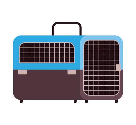 pet transport box on white background vector illustration design