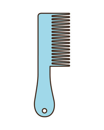 cute hair comb on white background vector illustration design