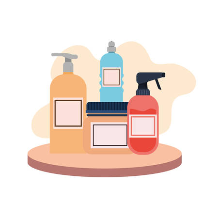 pet grooming container on white background vector illustration design Фото со стока - 129359013