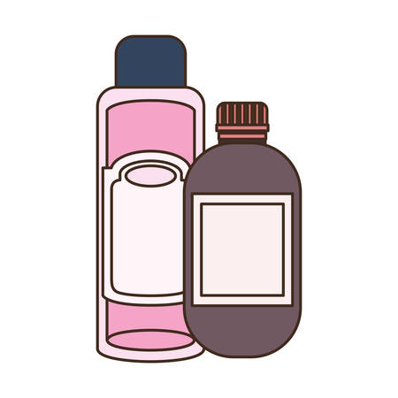 pet grooming container on white background vector illustration design
