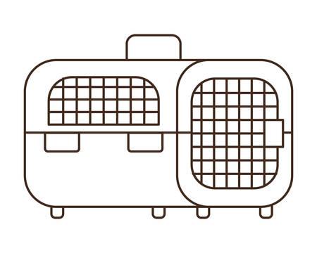 silhouette of pet transport box on white background vector illustration design Illustration