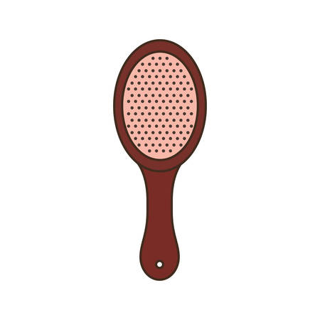 cute hairbrush on white background vector illustration design