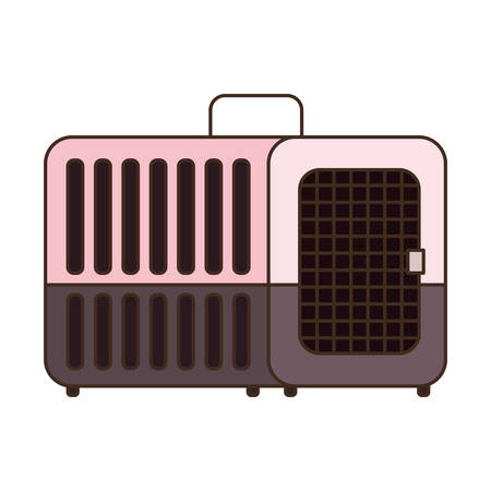 pet transport box on white background vector illustration design