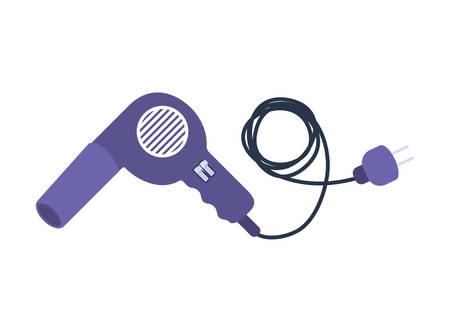 professional hair dryer on white background vector illustration design Illusztráció