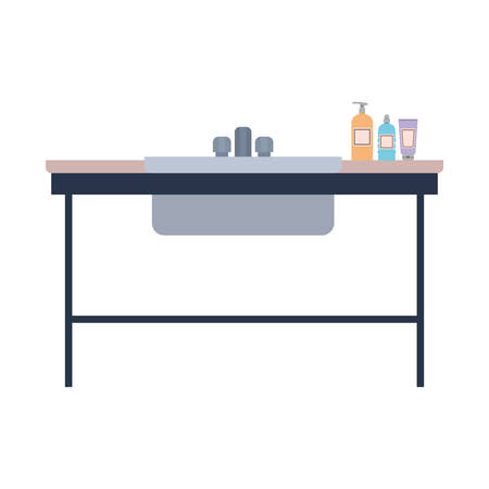 pet grooming table on white background vector illustration design