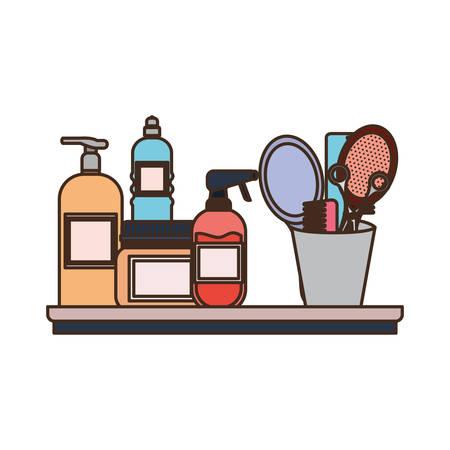 pet grooming set on white background vector illustration design  イラスト・ベクター素材